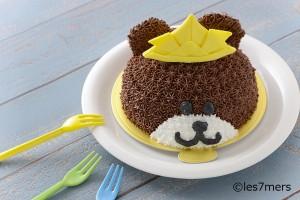 かぶとくまちゃんケーキ2